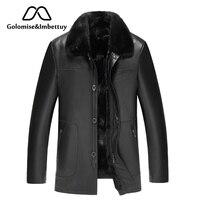 Golomise & Imbettuy Натуральная овечья кожа куртка из натурального меха норки лайнер мужской из натуральной кожи овечья шерсть куртка/Мужское пальт