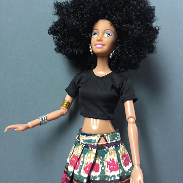 Movable Joint Black Lady Doll/Toy