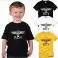Free Shipping Size 90/100/110/120/130/140/150cm kids tshirt bigbang london boy eagle t-shirt hip hop 6 color 100% cotton DC612
