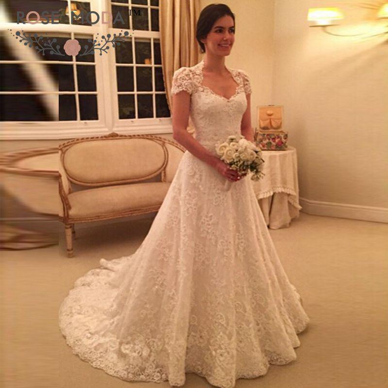 Popular Queen Anne Wedding Dress Buy Cheap Queen Anne Wedding Dress Lots From China Queen Anne