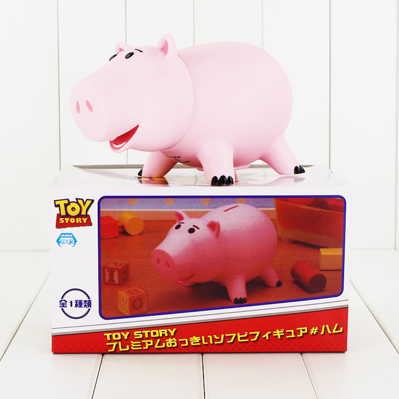 20cm Toy Story Hamm Piggy Bank Pink Pig Coin Box PVC figure Toys Gift Kids Money