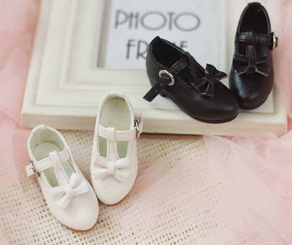 07# 1//4 Black BJD MSD AOD LUTS Dollfie Synthetic Leather Shoes PF