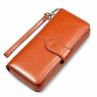 Oil Wax Women S Genuine Leather Money Bag Hasp Money Clips Purse Wallets Clips Purses Zipper