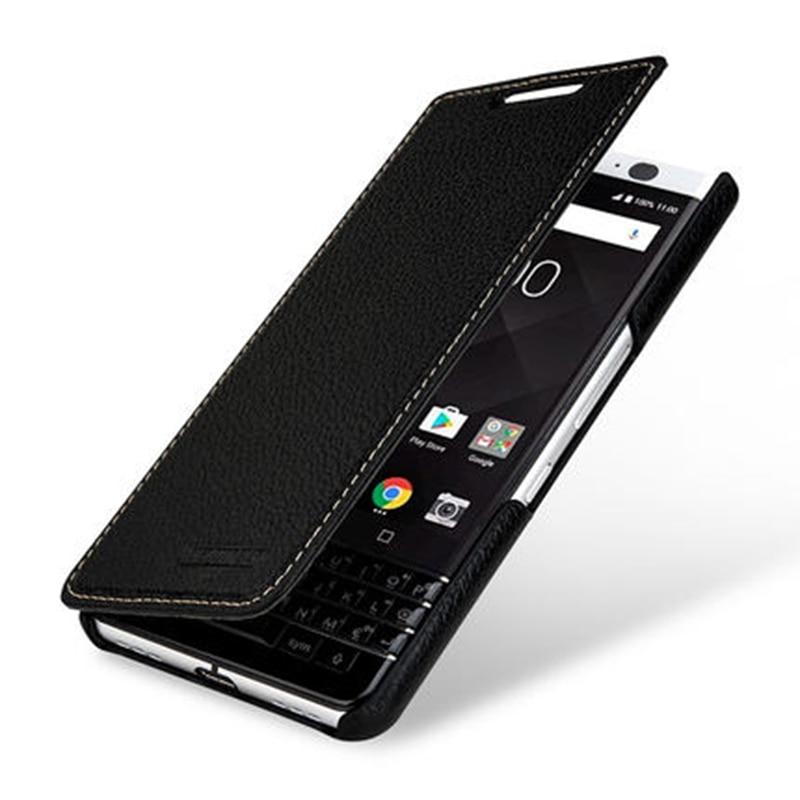 Étui en cuir véritable de marque de luxe pour Blackberry KEYone PRESS 4.5