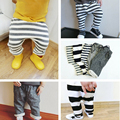 2016 otoño invierno nuevos pantalones Del Bebé ropa de los muchachos niños muchachas de la ropa de rayas pantalones harén pantalones de algodón