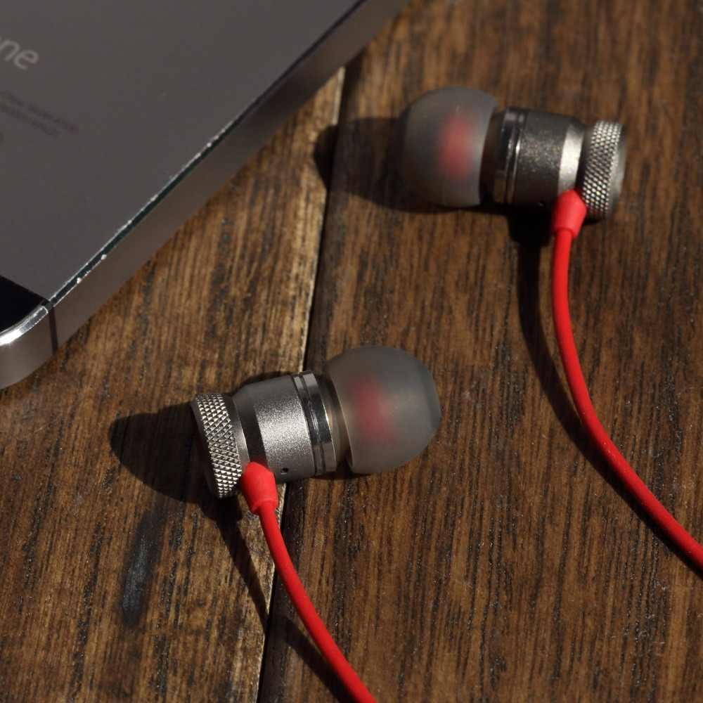 GGMM Nightingale słuchawki douszne z mikrofonem metalowe słuchawki obudowa 3.5mm HD HiFi douszne słuchawki basowe stereo słuchawka do telefonu zestaw słuchawkowy do gier