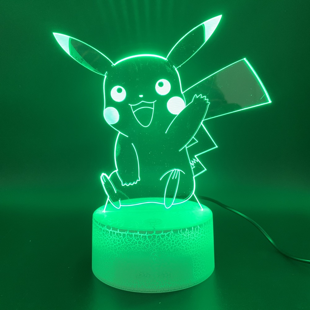 Led Night Light Game Pokemon Go Color Changing 3d Lamp Home Decor Atmosphere Birthday Gift For Child Kid Novelty Light Pikachu