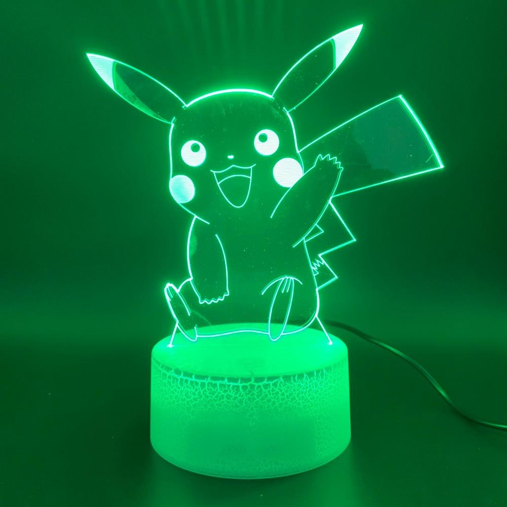 Led Night Light Game Pokemon Go Color Changing 3d Lamp Home Decor Atmosphere Birthday Gift For Child Kid Novelty Light Pikachu