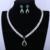 Loway luxo verde gota de água colar brincos aaa + zirconia banhado a ouro branco conjuntos de jóias de casamento das mulheres xl1890