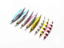 5PCS Fishing Deep sea Glow Ocean Boat Rock Beach Metal Jigging Jigbait Spoon Lure baits 20g 30g 40g 60g
