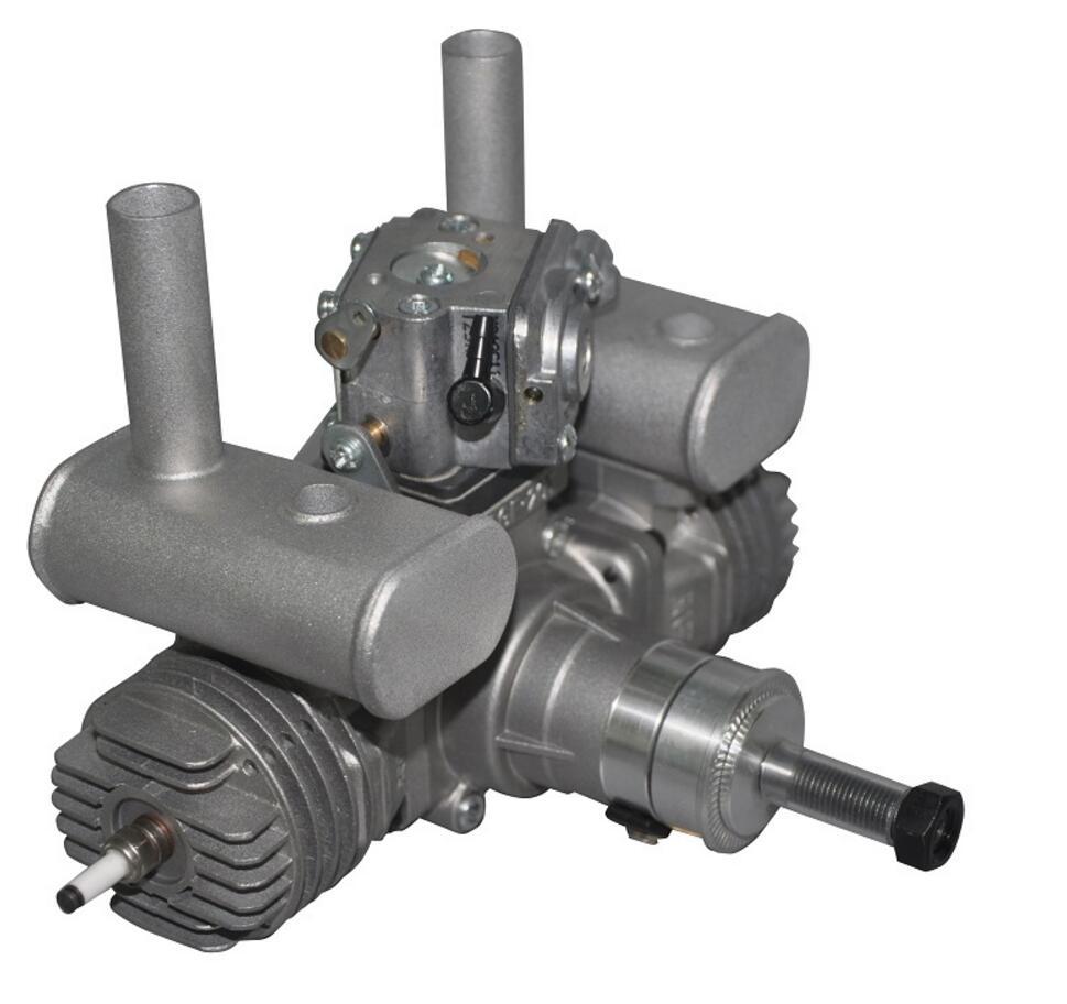 RCGF 21cc Dual / Twin Cylinder Petrol / Gasoline Engine with Muffler Spark plug for RC Model Airplane dla116 inline cnc processed inline gasoline engine petrol engine 116cc for gas airplanes with double cylinders