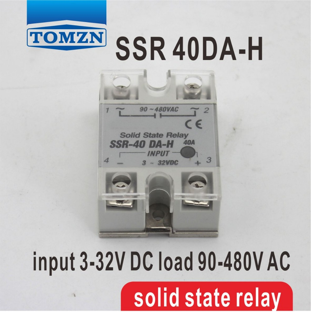 40DA High voltage type SSR input 3-32V DC load 90-480V AC single phase AC solid state relay white shell 220v 3 32v single phase solid state relay ssr dc control ac fotek 80a ssr 80da
