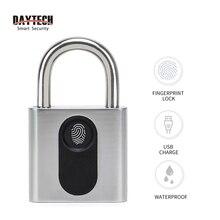 DAYTECH Fingerprint padlock Door Lock Smart Electronic Lock IP65 for Cabinet/Backpack/Cargo/Bike/Luggage/Bag