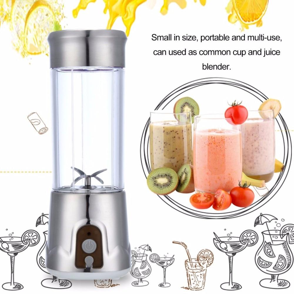 Electric USB Juicer Cup Juicer 380ml Portable Bottle Household Travel Handheld Fruit Juicer Machine Blender Bottle цены