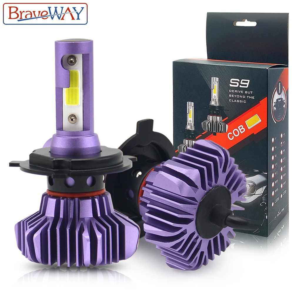 BraveWay Led Headlight for Auto Led Ice Bulb Car Led Light H4 H7 H11 9005 9006 HB3 BH4 H1 Automobile Diode Lamps H7 LED Bulb H4
