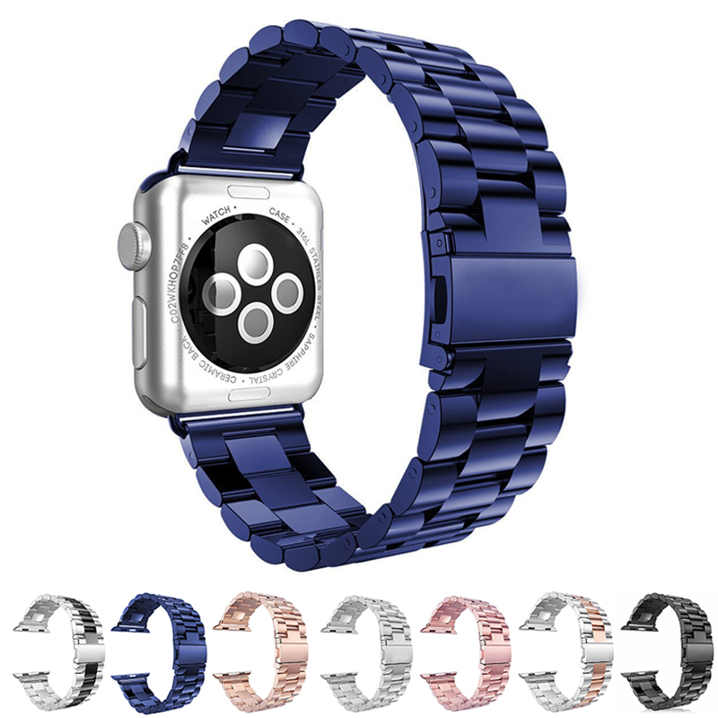 Stainless Steel Metal Strap band for Apple Watch Series 1 2 3 4 Business Replacement Wathband for iwatch 38mm 40mm 42mm 44mmStainless Steel Metal Strap band for Apple Watch Series 1 2 3 4 Business Replacement Wathband for iwatch 38mm 40mm 42mm 44mm
