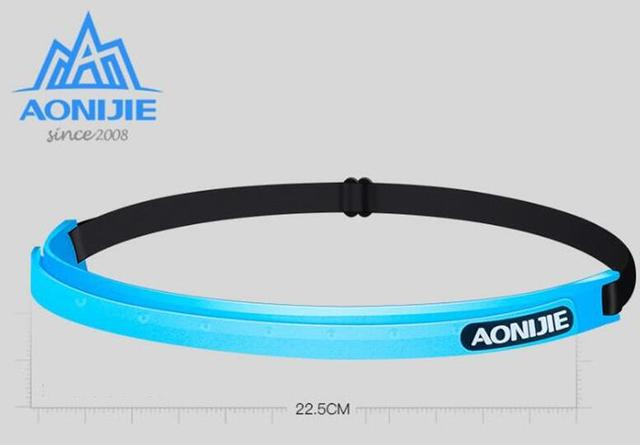 AONIJIE Women Men Sports Sweatband Silicone Breathable Quick Dry Fitness Yoga Hair Bands Gym Guiding Belt Sweat Head 1