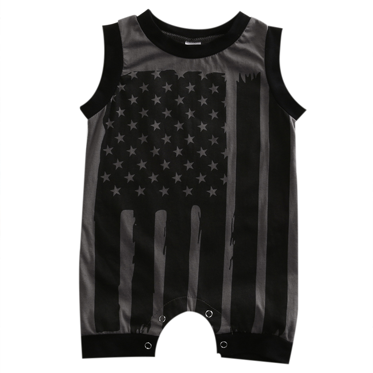 Summer 2017 Newborn Toddler Kids Baby Boys Girls Sleeveless Striped Flag Romper Jumpsuit Clothes Outfits
