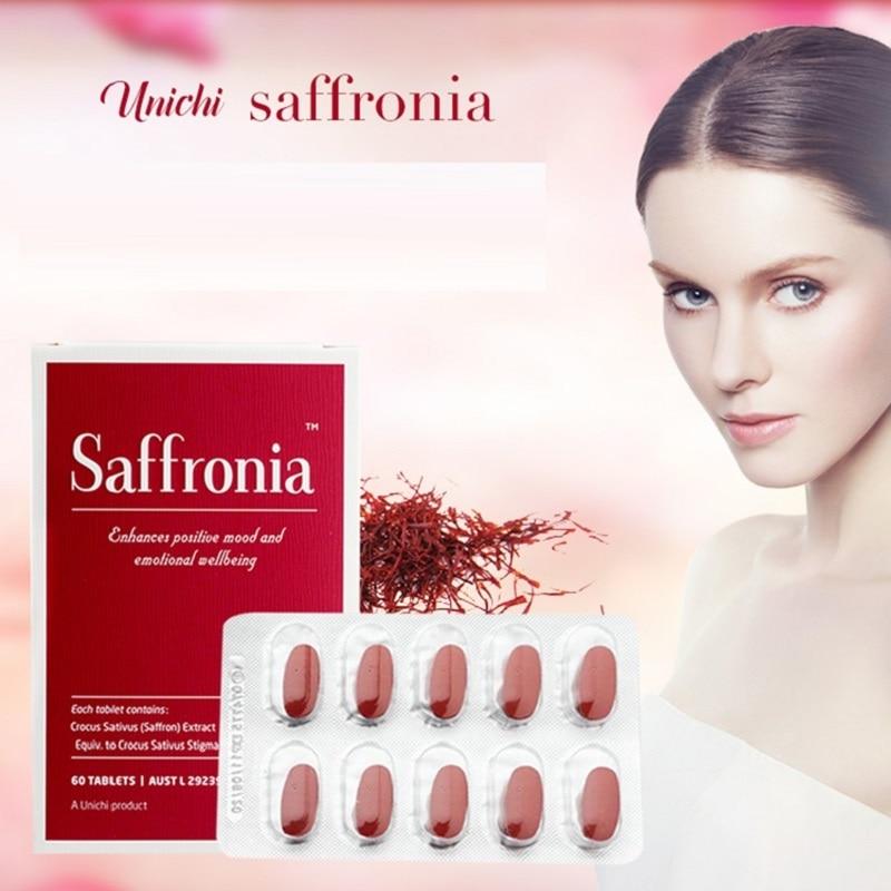 Australia Unichi Saffronia Capsule Mental Relaxation Mood Balance Vigor Women Health & Wellness Products Wellbeing Supplements|Body Self Tanners & Bronzers| - AliExpress