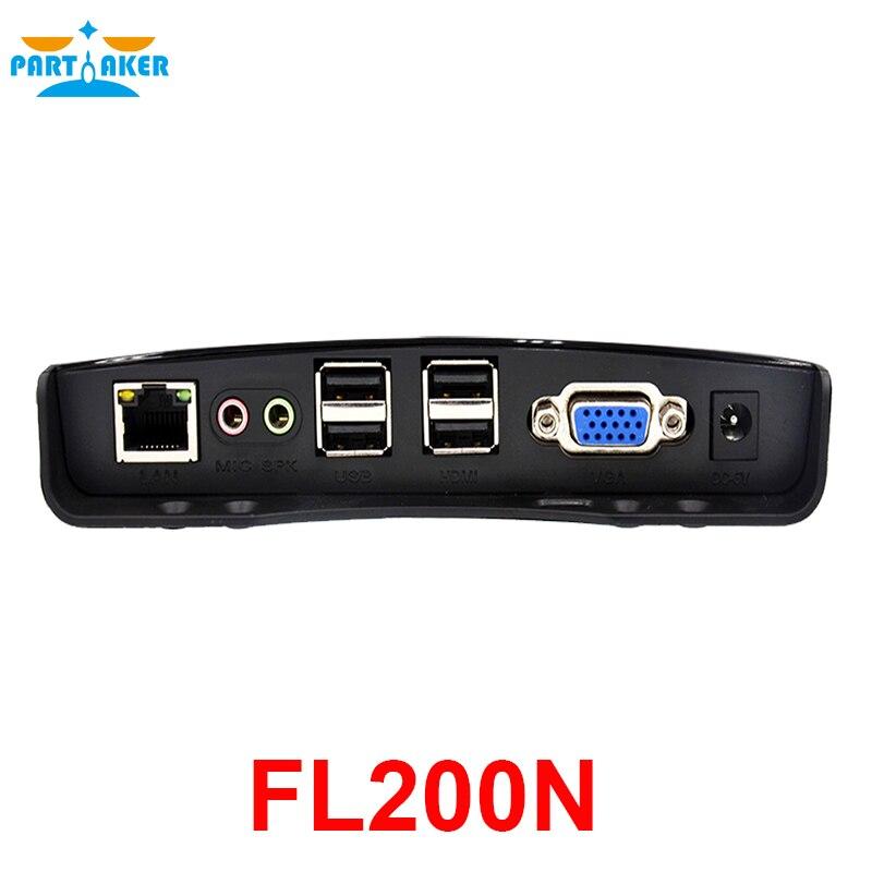 Partaker Thin Client FL200N Remote RDP 8.1 Remote FX Terminal Rendering VDClass ARM A53 Quad Core 2.0GHz 512M RAM 4G Flash