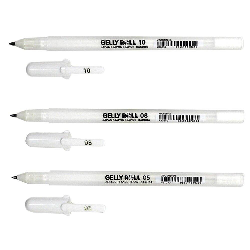 Sakura Gelly Roll Pen Classic 10 Bold White 3pc