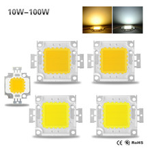 2018 New High Power LED COB Chip 10W 20W 30W 50W 100W DC 10V-32V Integrated Lamps SMD For Floodlight Spotlight Warm White /White(China)