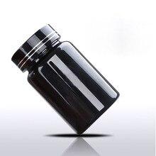 100 мл черный ПЭТ многоразового бутылки Портативный для переноса косметические воды Лосьон, косметическая упаковка бутылки, таблетки Бутылочки винт Кепки