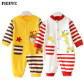 Newborn Baby Boy Girl Clothes Autumn winter Long Sleeve Cartoon giraffe Printed Jumpsuit Baby Romper Mother Nest Clothes