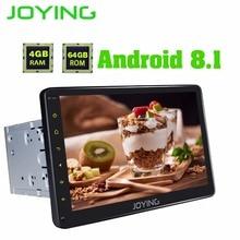 """JOYING 10.1 """"4 GB + 64 GB Octa 8 Core Android 8.1 unità di testa 2 din auto radio stereo lettore multimediale Android auto supporto Carpaly"""