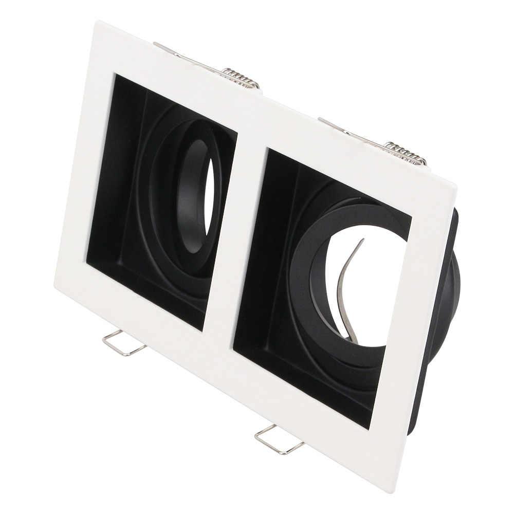 Square GU10 MR16 base socket Ceiling Fixed Downlight Aluminum alloy Support 50mm bulbs ceiling spot Spotlight installation frame