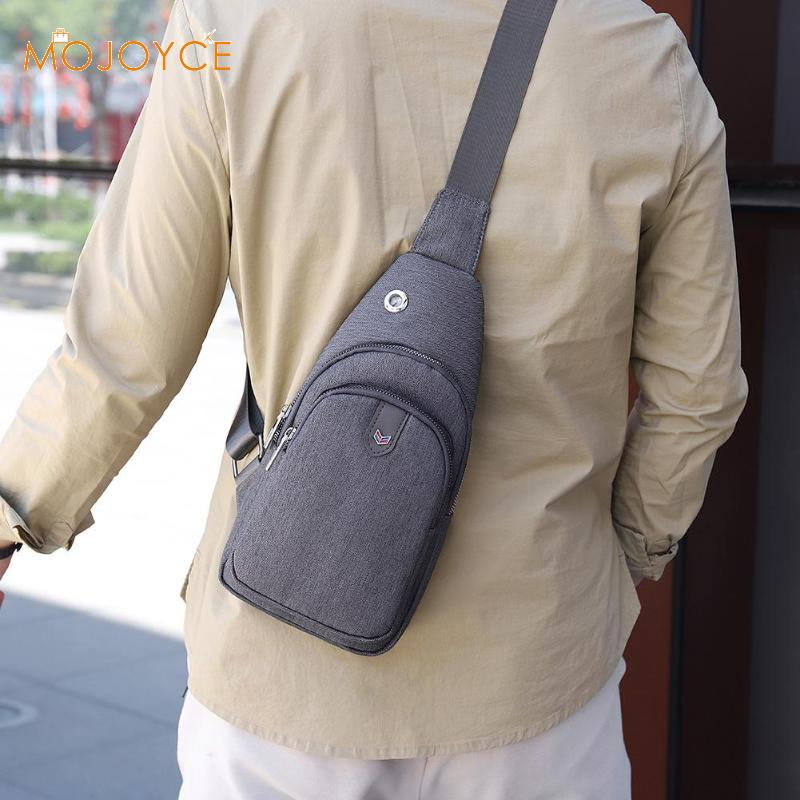 Fashion Vintage Men Crossbody Bags Chest Oxford Water Proof Handbags Men Oxford Cloth Zip Crossbody Chest Bags Bolsas