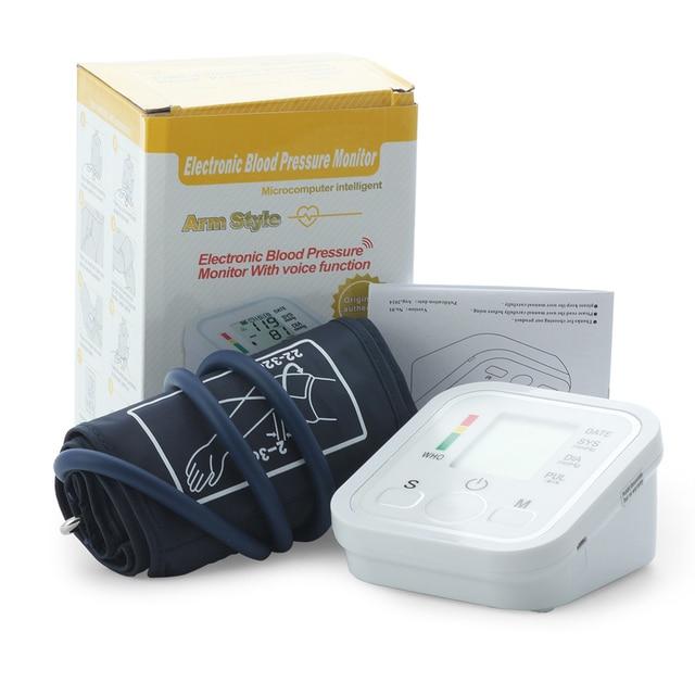 Arm Blood Pressure Monitor Pulse Oximeter Digital Tonometer Pressuring Sphygmomanometer Apparatus Measuring Pressure Hearth Care