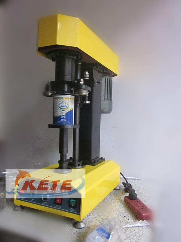 TDFJ 160 Настольная автоматическое контейнер укупорки, банки запайки, бумажные банки, ПЭТ пластиковые бак, крышка горшок металла, машины