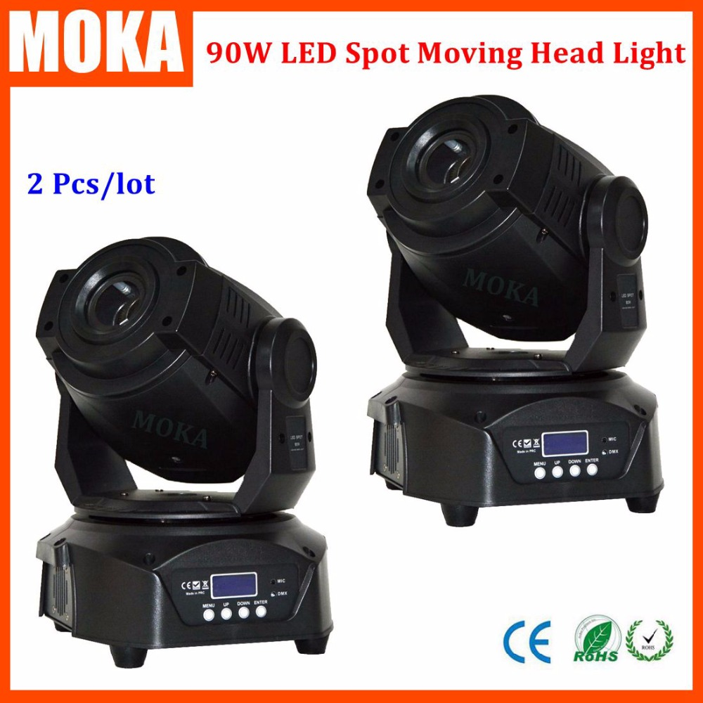 2pcs/lot 90W led moving head spot light led mini moving head beam light  rotating gobo DMX512 Master Slave niugul dmx stage light mini 10w led spot moving head light led patterns lamp dj disco lighting 10w led gobo lights chandelier