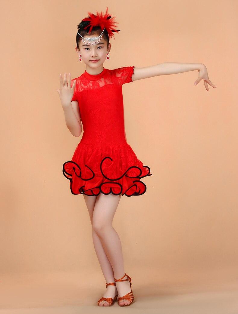 Pavasara meitenes latīņu deju kostīmi bērni baleta svārki mežģīnes sporta apģērbs ar garām piedurknēm latīņu latīņu valodas prakse