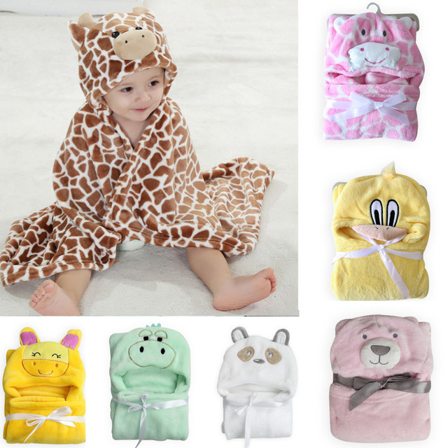 New coming 3D animal style cute baby blankets hooded newborn receiving blankets Infants swaddle wrap baby parisarc