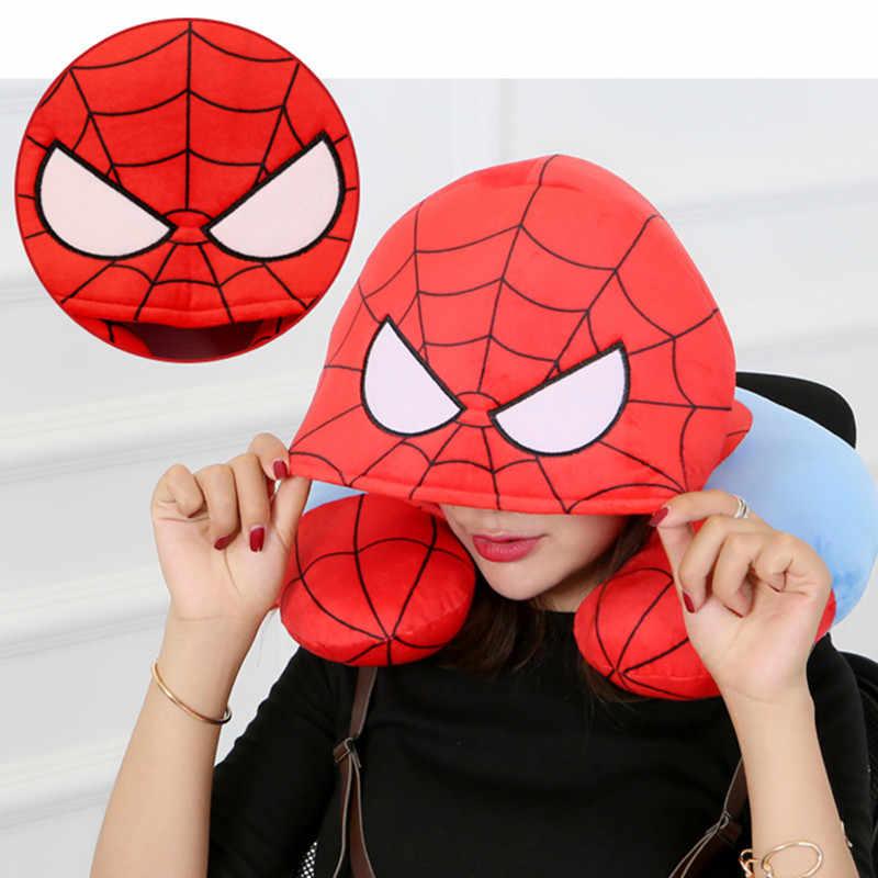 Мстители 4 «Человек-паук» с капюшоном u-образный вырез подушка для короткого сна подушка, подушка Удобная хлопковая милая плюшевая игрушка M798