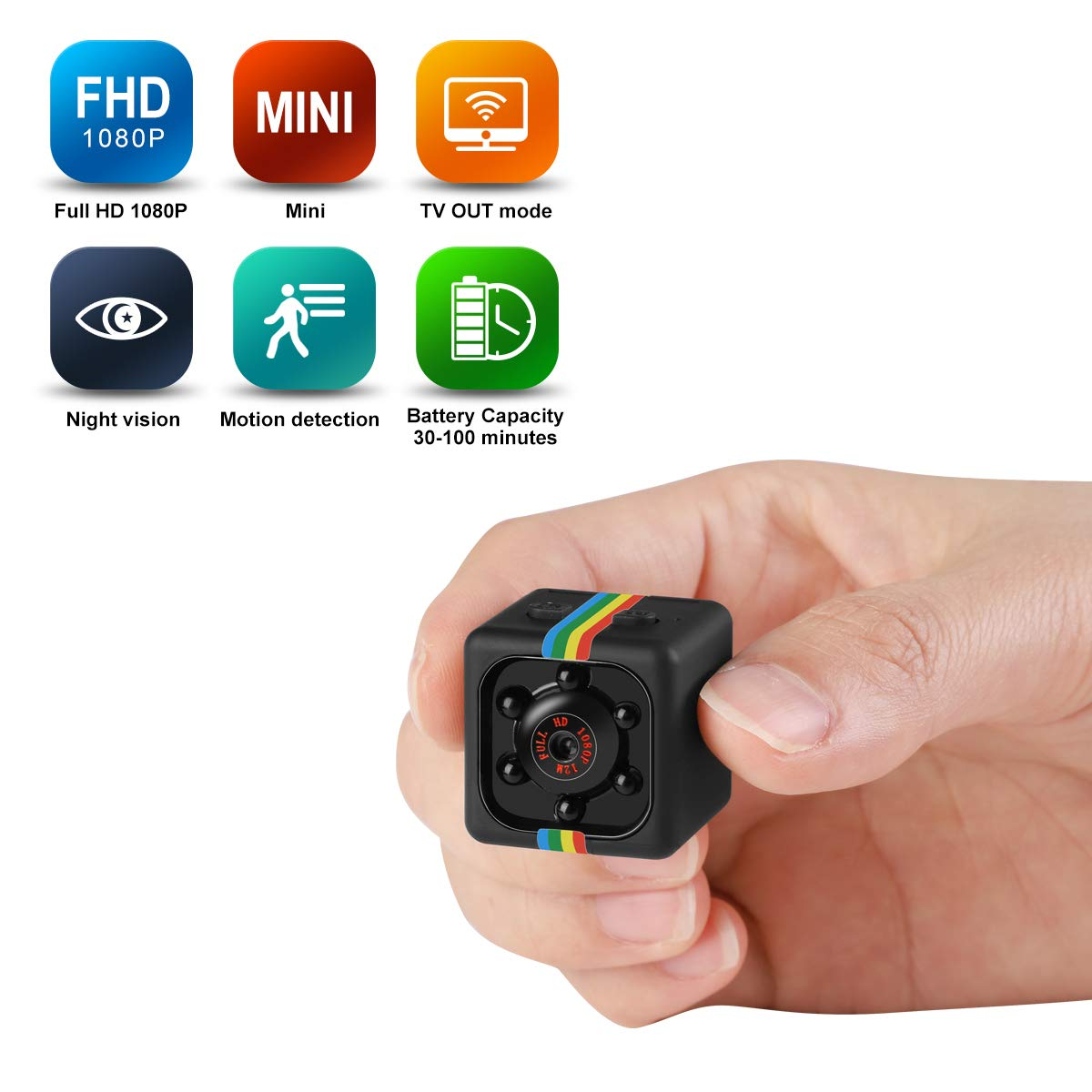 1080P Mini Camera HD Camcorder Nanny Web Cam Sports Mini DV Video Recorder With Night Vision And Motion Detection