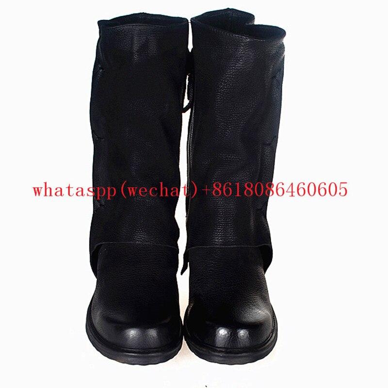 Choudory/женские мотоботы; сапоги до колена с пряжкой; ковбойские сапоги на низком каблуке; модные меховые сапоги в западном стиле; женская обув