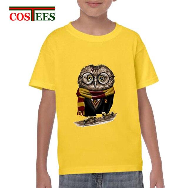 d76bfd9e5 Paródia Moda Bonito Coruja Harry Potter Owly Camiseta Adolescente Meninos  Minerva Geek Tops Hipster Novidade T