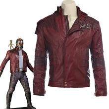 Star Lord Jacket Chaqueta corta cosplay Halloween guantes guardianes de la galaxia 2 cinturón Star Lord cosplay pantalones chaqueta de cuero