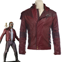 Star Lord Jacket short jacket cosplay Halloween Gloves Guardians of the Galaxy 2 Belt Star Lord cosplay Pants leather jacket