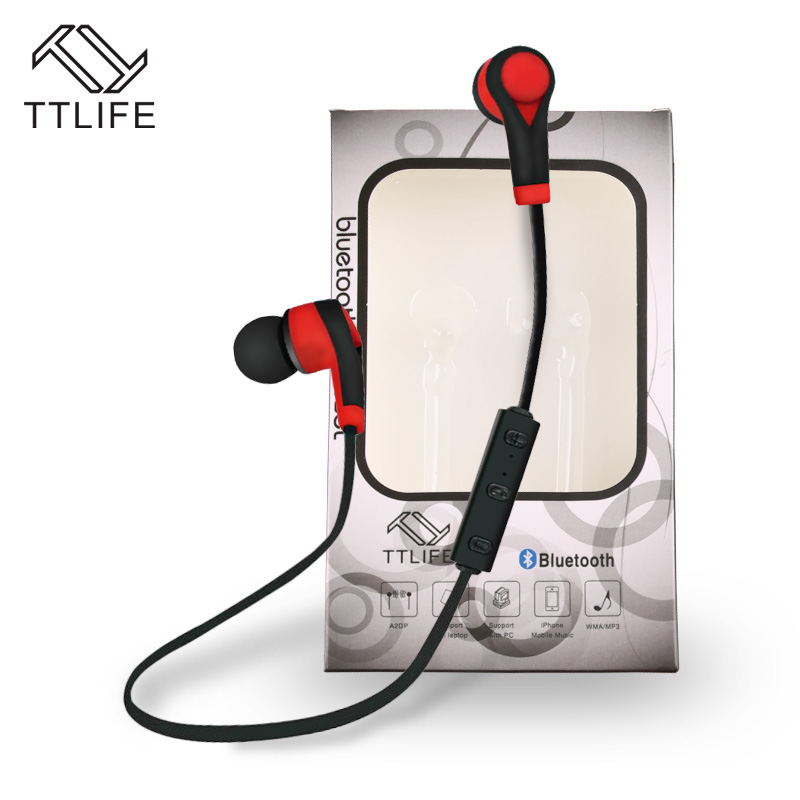 TTLIFE 2017 Original Sports Wireless Bluetooth Earphones Stereo Earbuds Bass Headsets with Mic In-Ear for Phone Samsung Huawei 195hb wireless bluetooth mini headphones super bass headsets stereo sports over ear hifi earphones earbuds with mic for remax