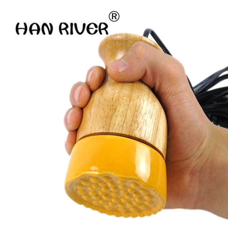Río Han eléctrico Moxibustion meridiano masaje energía del aparato raspado cerámica caliente moxa régimen latas ajustar la temperatura