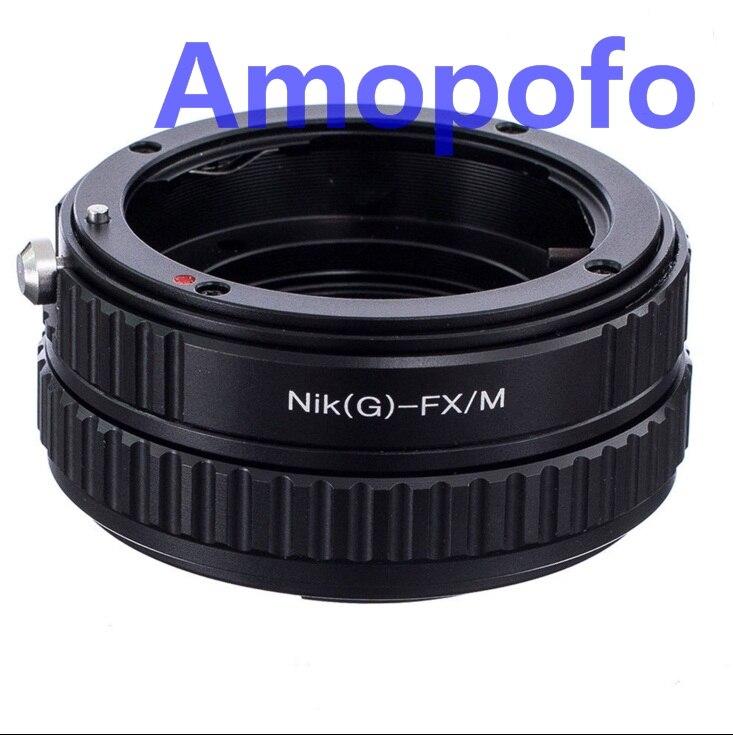 AMOPOFO pour objectif Nikon F G vers X-Pro1 Fujifilm adaptateur hélicoïdal à monture Fuji E2 T1