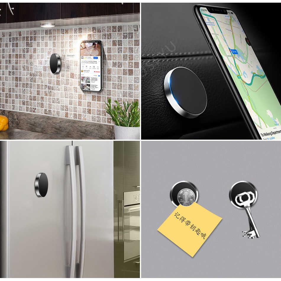 Magnético suporte do telefone do carro universal mesa de parede metal ímã adesivo suporte do telefone móvel suporte para o iphone x xs