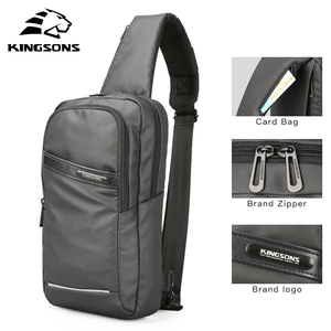 Image 3 - Kingsons New 10 Chest Bag High quality Crossbady Bags Single Shoulder Strap Back pack Business Travel Casual Bags Hot Sale