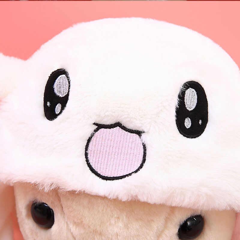 Милый Плюшевый Кролик Кепка Розовый Белый привлекательный Детский милый движущийся ушной кролик шляпа танец подарок плюшевая игрушка для девочки