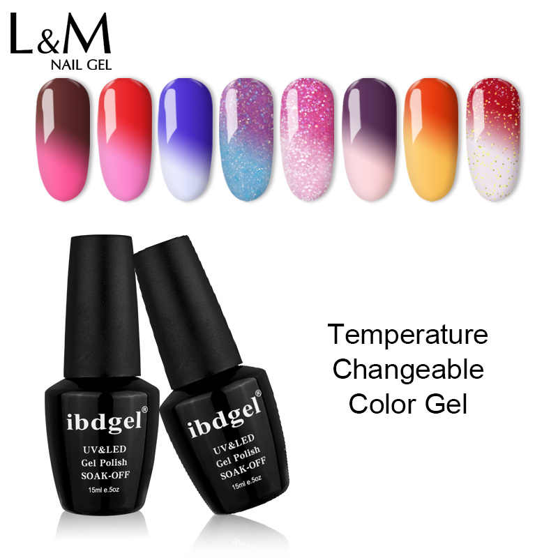 Ibdgel 3 Bottels Kit Suhu Gel Sempurna 72 Warna Dijual Hot DIY Kuku Seni Salon Terbaru Mengubah UV LED lampu Rendam Off