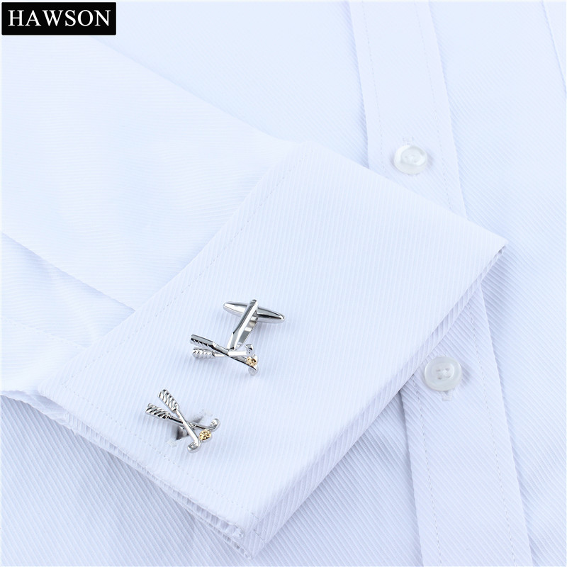 Free Shipping Sporty Golf Cuff links for Men Fashion Metal GolfBall Cuff Link Mens Suit Dress